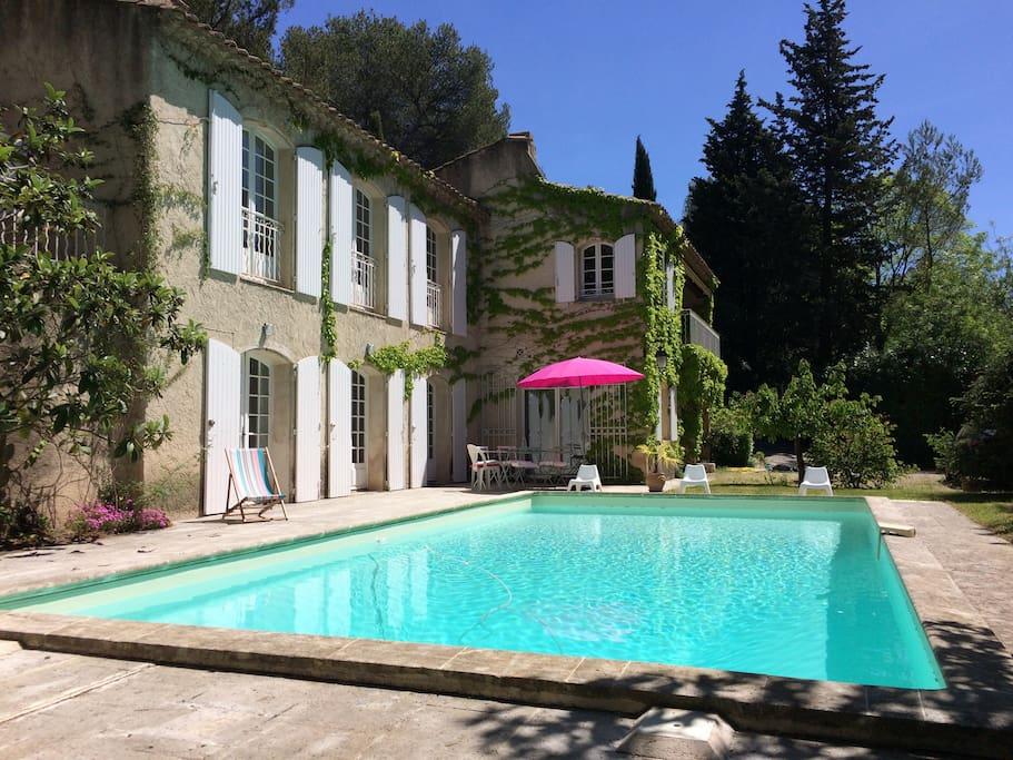 Maison piscine au calme aix en provence maisons louer for Aix en provence location maison