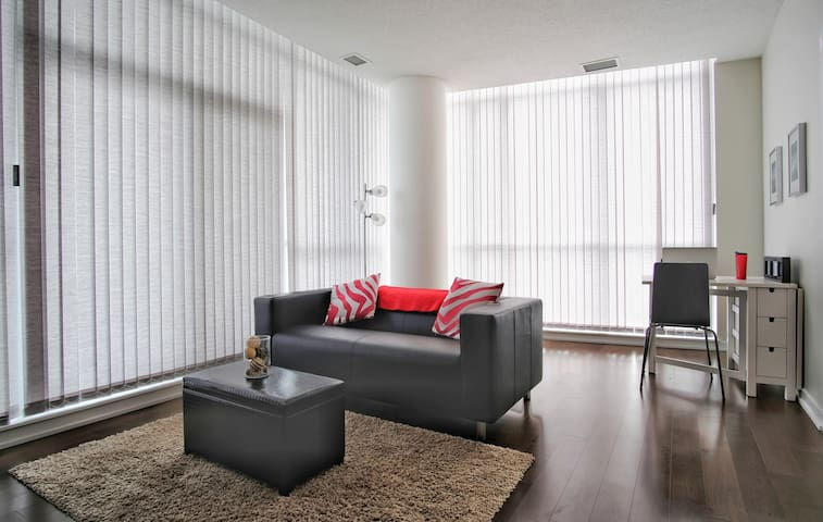 Living room with cozy sofa