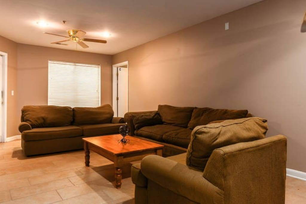 Common area couches and coffee table