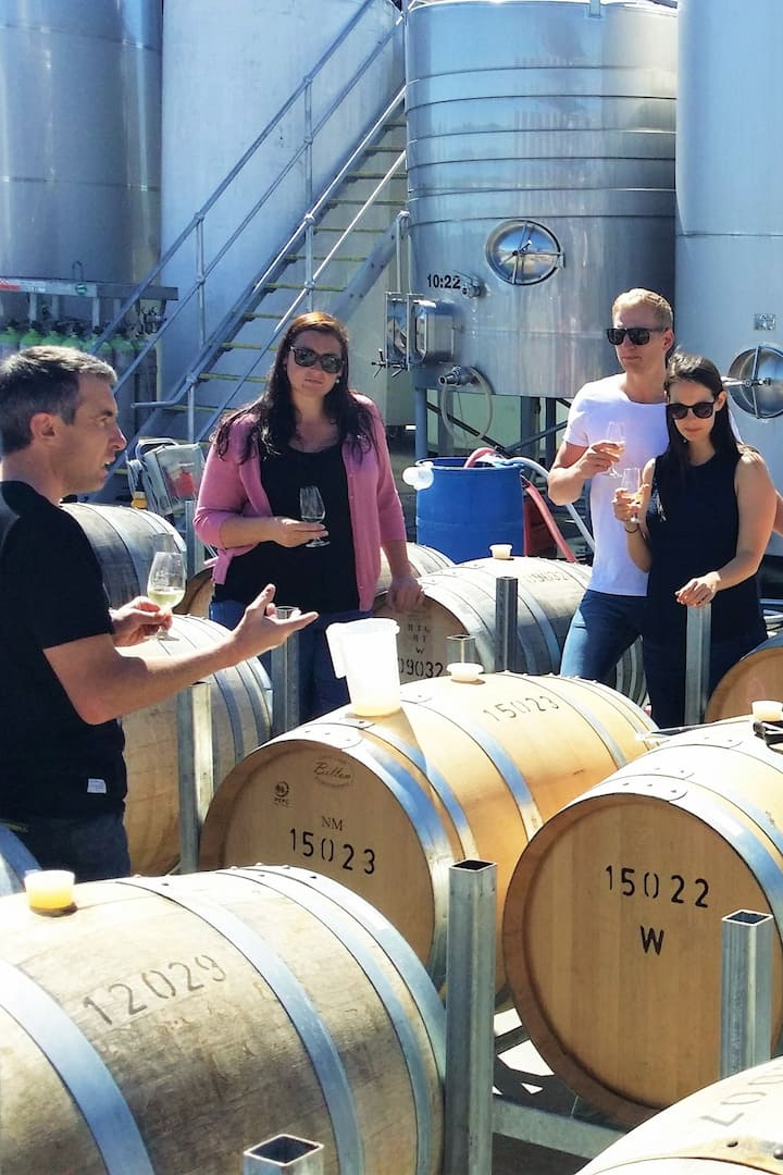 Behind the scenes winery tour