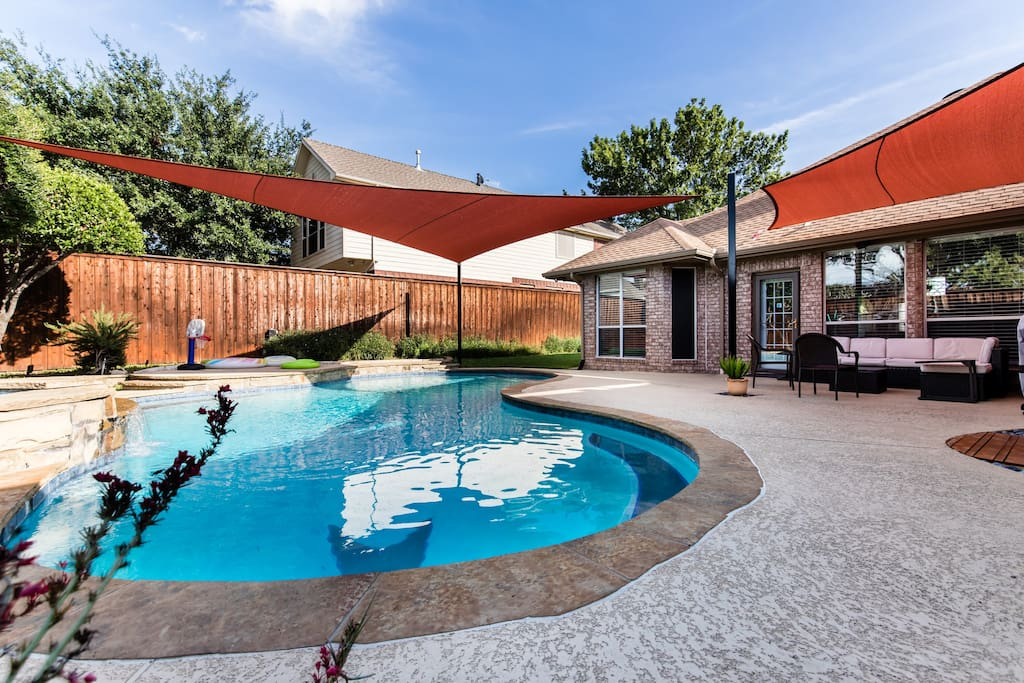 Lovely backyard. Heated Pool & Jacuzzi is an additional charge. See house details for pricing.