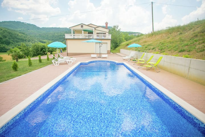 Family friendly holiday home with private pool in a pittoresque surrounding