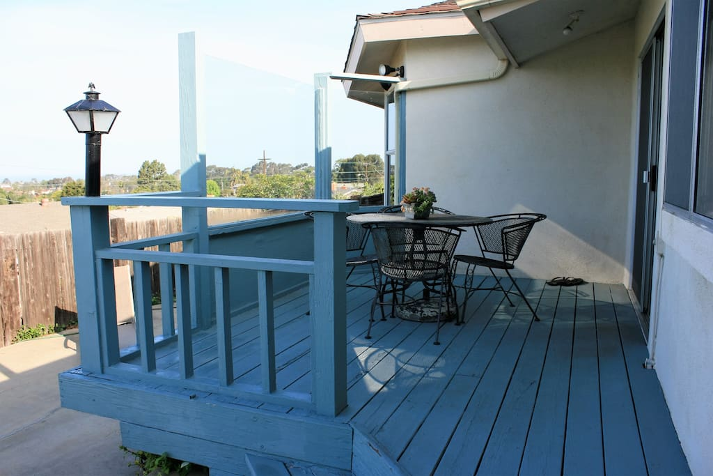 Separate patio for ocean view dining