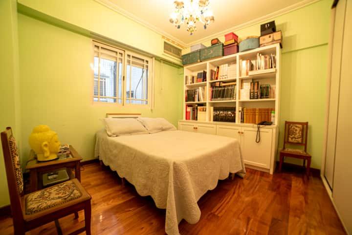 Tranquila habitación privada en Palermo