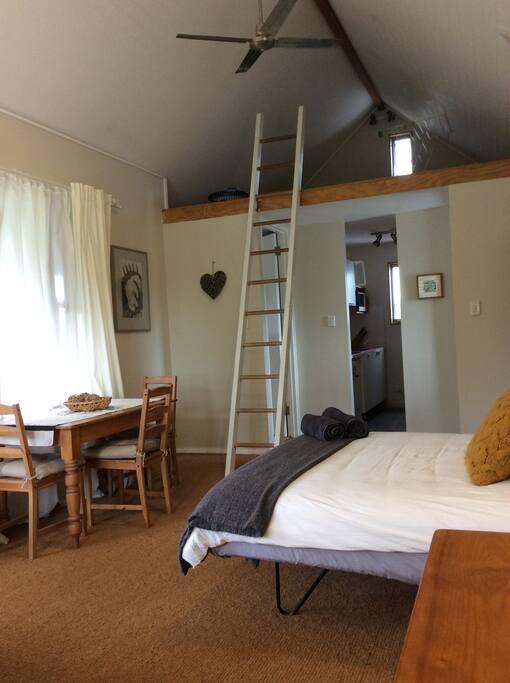 ladder to storage loft