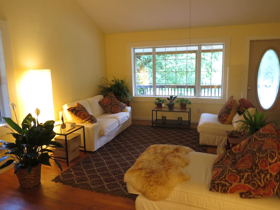 Large, sunny living room
