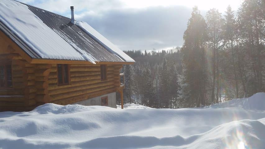 Chalet bois rond aux paysages uniques!