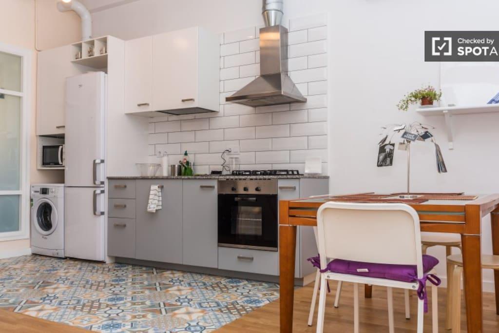 Wide open kitchen