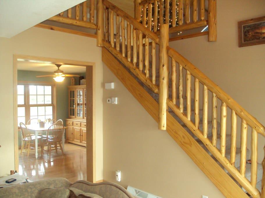 Log stair case