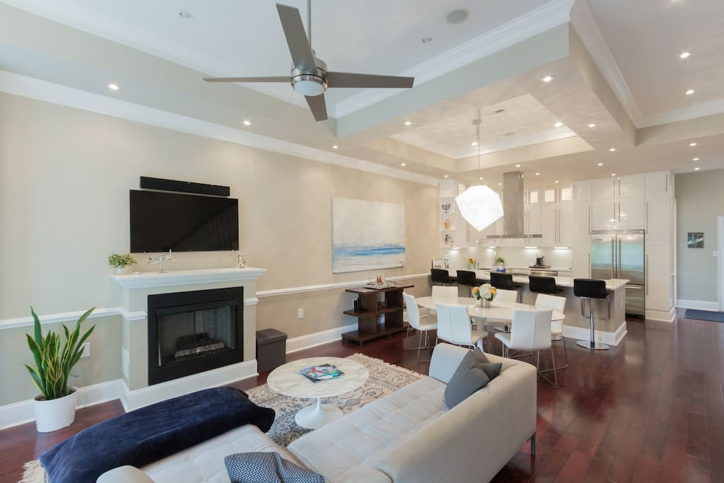 Open concept living / dining / kitchen