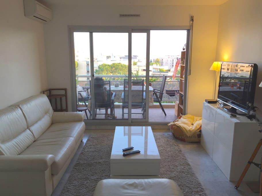 Un grand séjour de plus de 25 m² tout confort, prolongé par une salle à manger en terrasse avec son barbecue