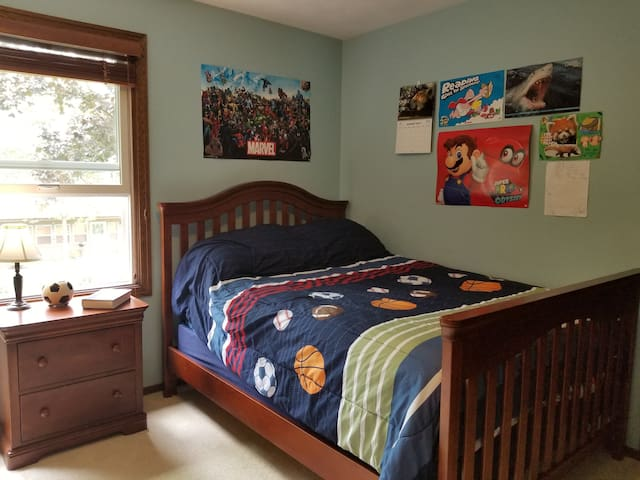 Third bedroom with a double bed.