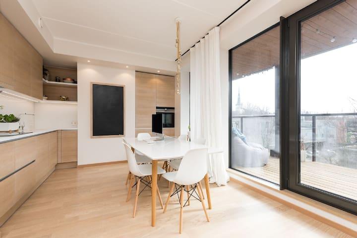 Modern Kalamaja flat with terrace