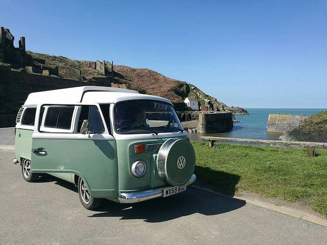 Willow the VW Camper Van, Pembrokeshire