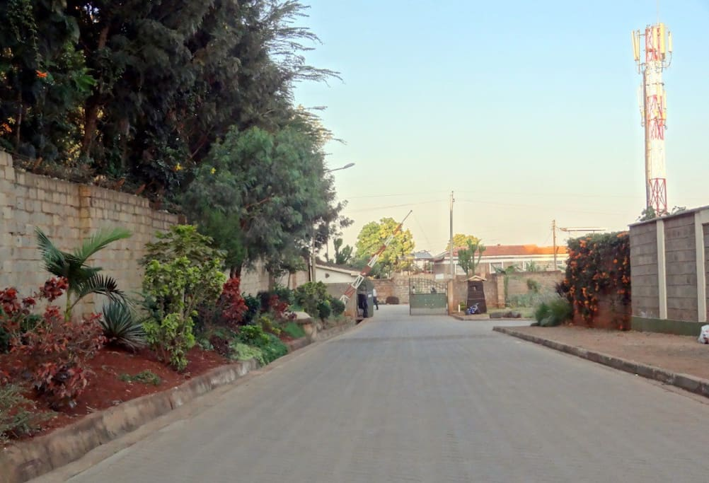 Entrance to gated community