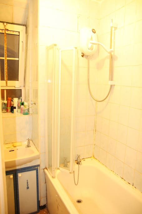 Please note that the bathroom is very tiny and the tiles are old - so nothing fancy :)