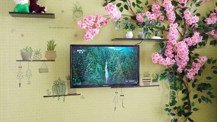 威海HOST——绿野仙踪亲子海景精品带地暖自助LOFT公寓 威海站韩乐坊海上公园