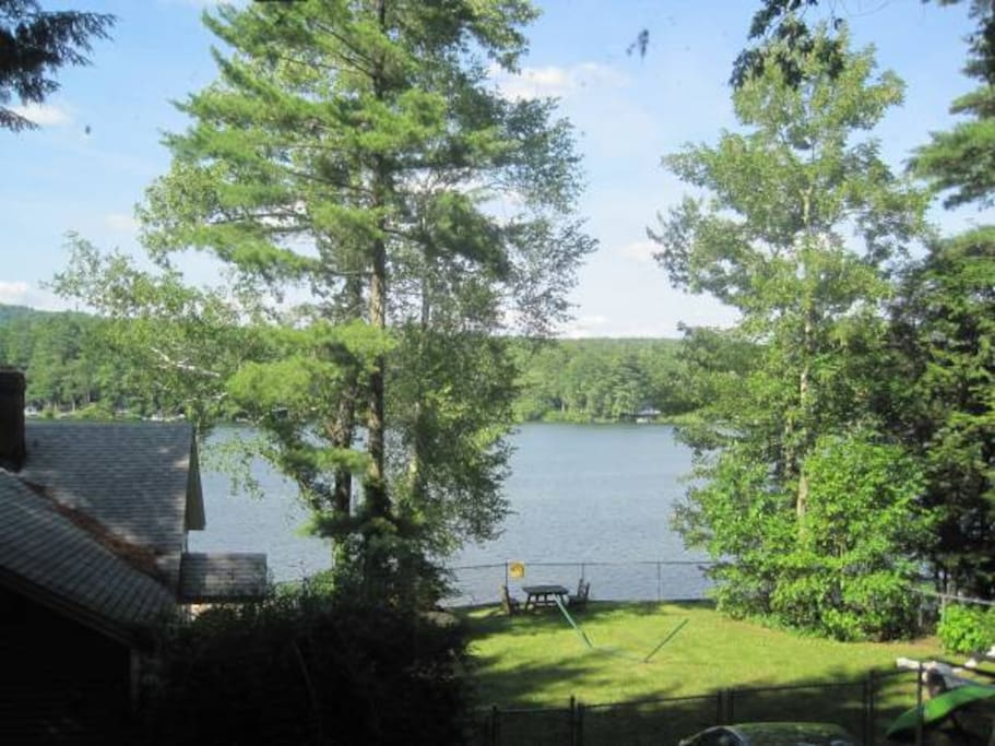 View of Lake Buel from the picture window in living room.