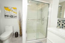 Washroom with shower (in master suite)