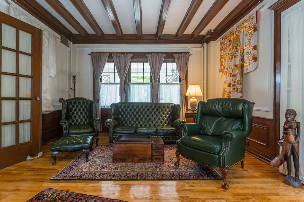 Before sitting in any of these comfortable chairs, or perhaps reclining one of them to take a snooze, you could off course light the newly opened real fireplace.