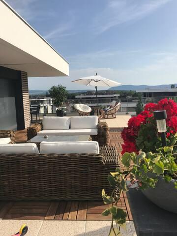 Suite parentale ds attique-terrasse 200m2 +/- spa