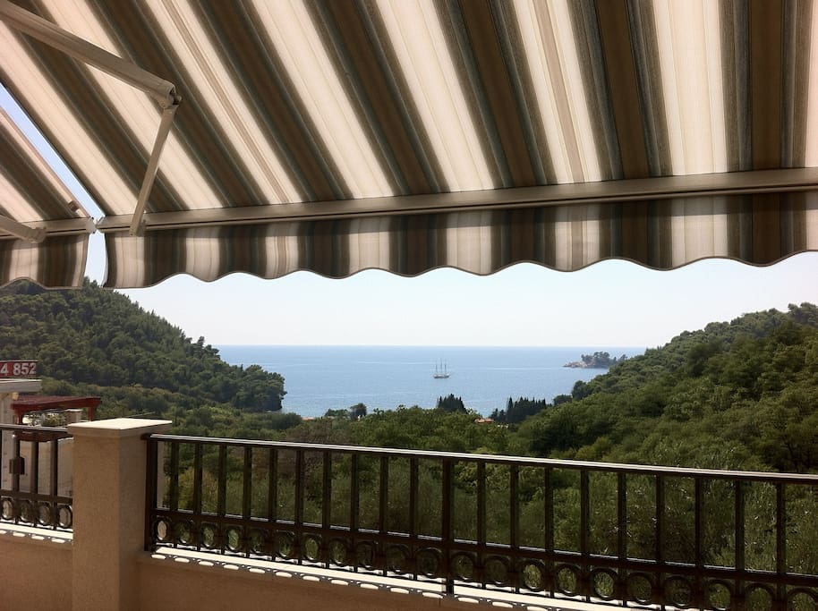 Terrace with canopy
