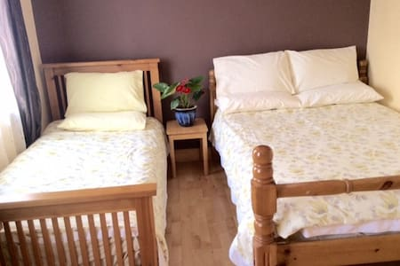 Triple Room - double & single bed - House