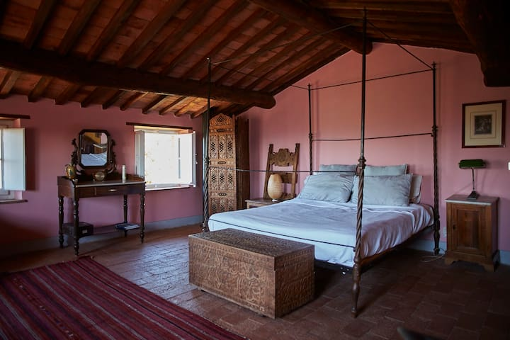 Master bedroom in the tower