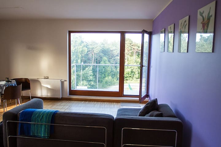 Seaside flat overlooking forest. - Hel - Departamento