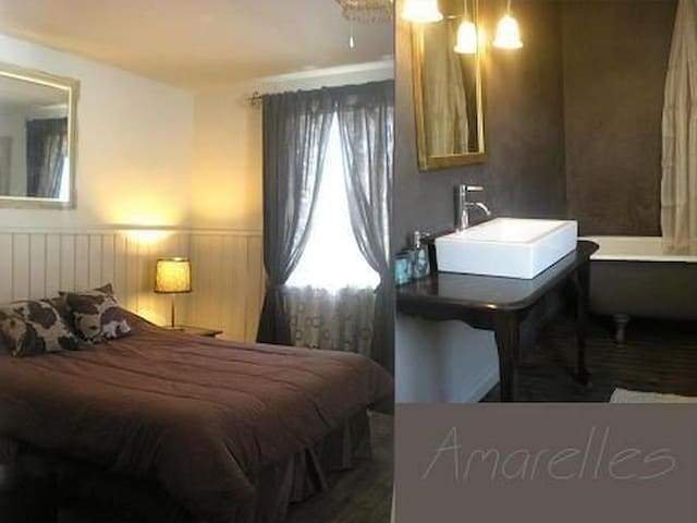 Nice room with private bathroom in lakeside house. - Saint-Faustin-Lac-Carré - 一軒家