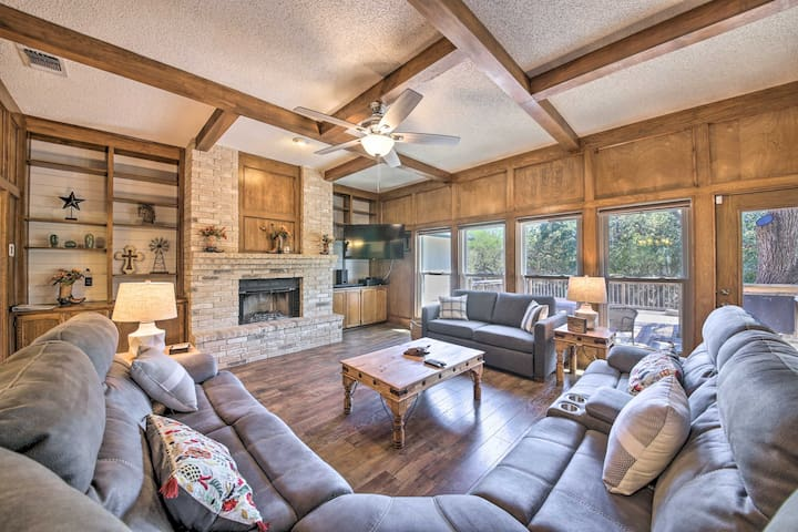 NEW! Charming Home with Hot Tub, Fire Pit, & Deck