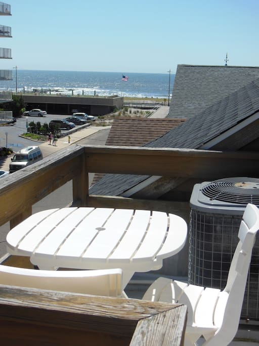 The balcony off of the Master Bedroom provides spectacular views of the beach and ocean.