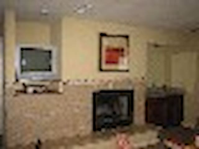 Newer flat screen TV's over the electric fireplace