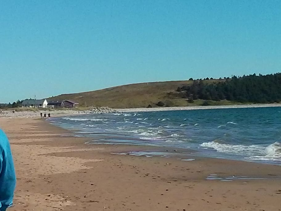 Enjoy a stroll along the beach, hard to believe, but it is not unusual to have it to yourself.