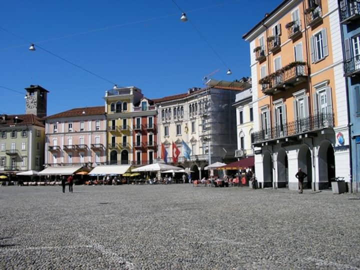 Near the historic Piazza Grande, Locarno
