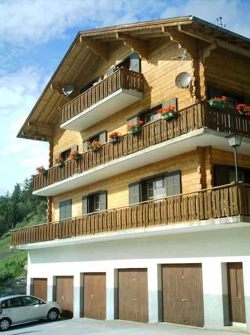 Traditional mountain chalet, with free parking slot