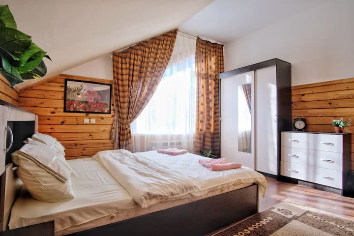 private superior room in a wooden house