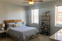 Master bedroom - Queen size bed. Brand new carpeting in the room.