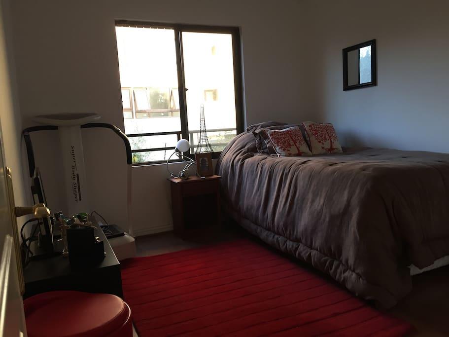 Luminosa pieza con cama divan
