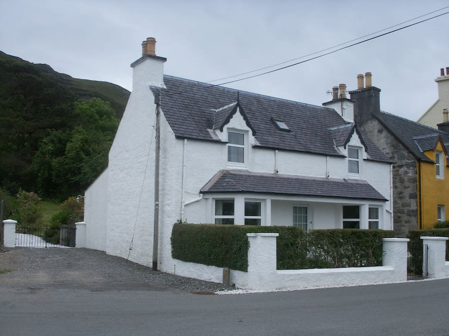 This picture shows the frontage of the cottage