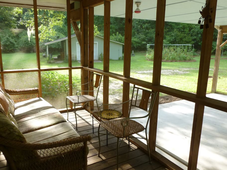 Large carport and screened porch