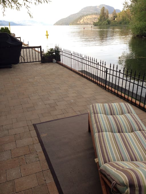 Gorgeous kalamalka lake view. now with outdoor furniture.