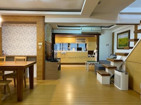 近中山、雙連捷運站,離台北車站MRT高鐵5分鐘~舊市區新思維(1-5人)享專屬-樓中樓兩房全部空間.