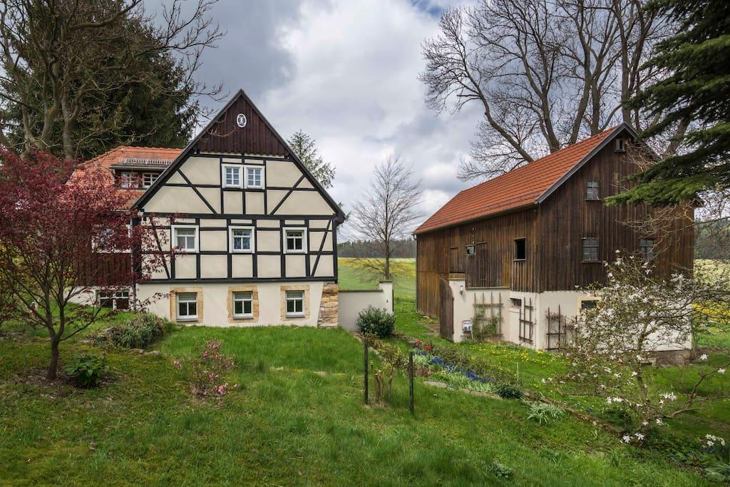 ferienhaus unter den eschen h user zur miete in pretzschendorf sachsen deutschland. Black Bedroom Furniture Sets. Home Design Ideas