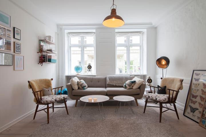 Cozy 100m2 flat in the heart of Cph - København - Apartment