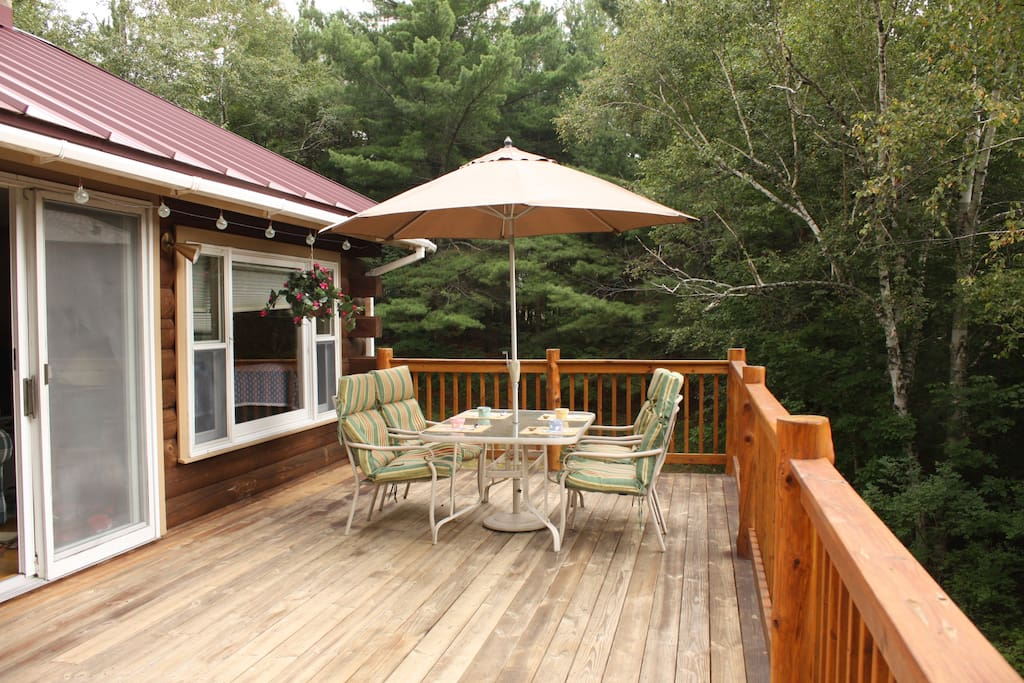 large deck with view of Whiteface Mt.
