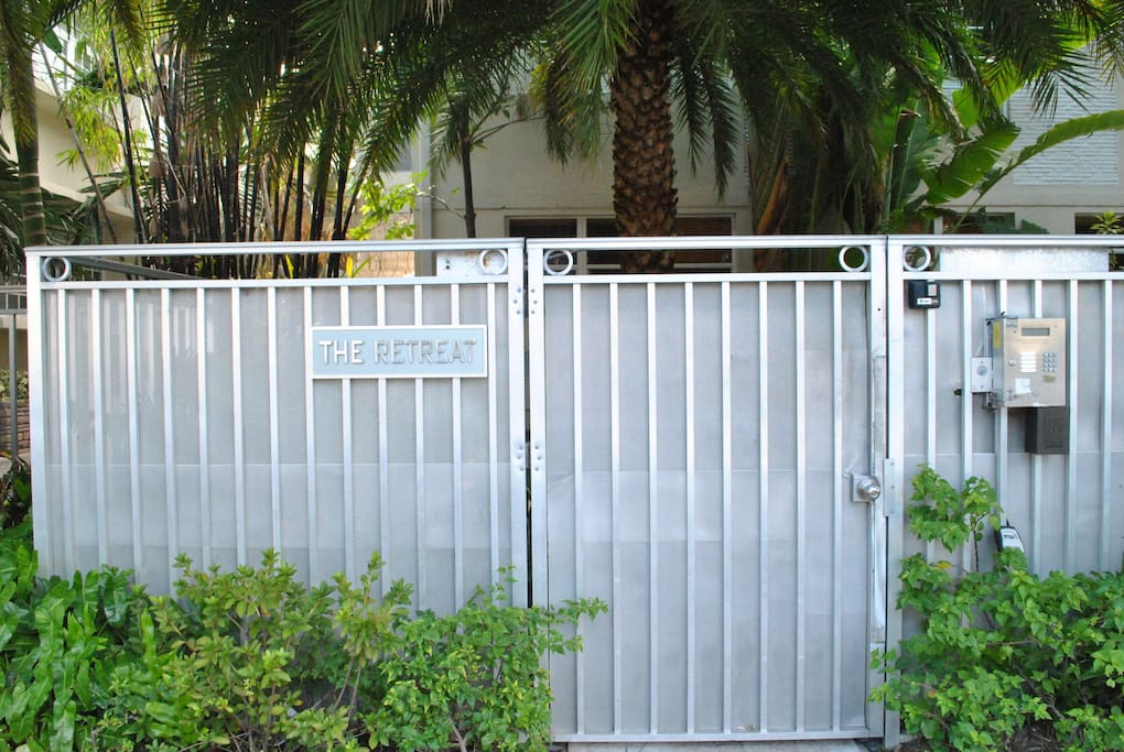 Front entrance gate