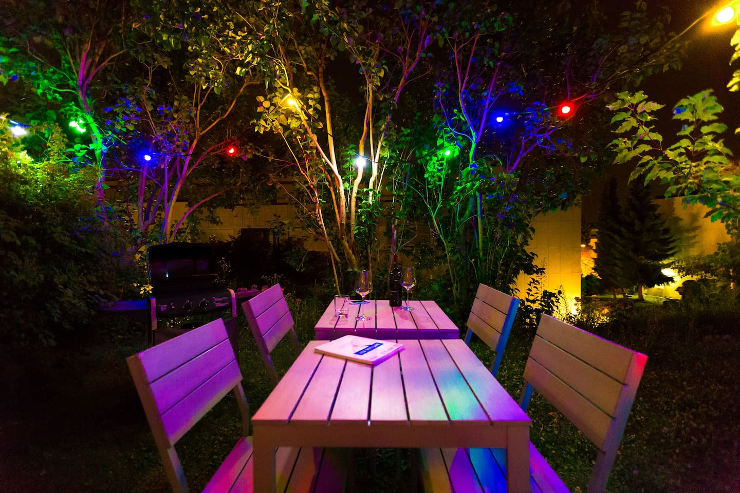 your garden at night