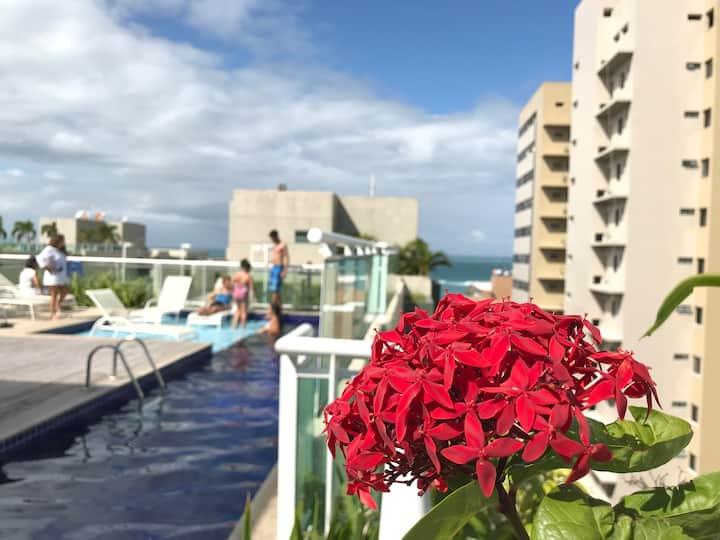 JTR - Apartamento novo em condomínio a beira-mar