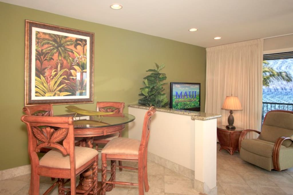 Enjoy eating in the dining area.